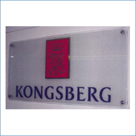 Corporate Name Boards With Glass, Letters